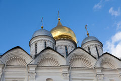 Domes of the Archangel Cathedral Royalty Free Stock Images