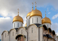 Domes of the Assumption Cathedral Stock Photos
