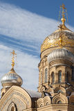 Domes of assumption Church on Vasilievsky island, St. Petersburg Royalty Free Stock Images