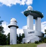 Domes of astronomic observatory. Domes of modern astronomic observatory Stock Images