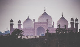 Domes of the Badshahi Mosque ( Badshahi masjid ) Stock Image