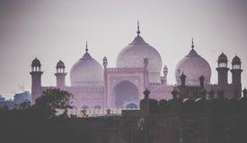 Domes of the Badshahi Mosque ( Badshahi masjid ) Stock Image