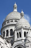 Domes of the Basilica of the Sacre Coeur in Paris Stock Images