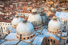 Domes of basilica San Marco in Venice. Royalty Free Stock Image