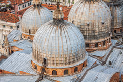 Domes of basilica San Marco in Venice. Royalty Free Stock Photography