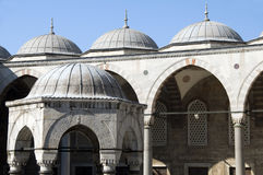 Domes blue mosque Istanbul Turkey Royalty Free Stock Photography