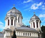 Domes of Brasov orthodox church Stock Photo