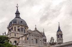 Domes of the Cathedral of Almudena Stock Photography
