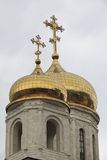 Domes of the Cathedral of Christ the Savior Stock Photography