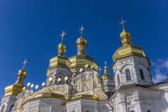 Domes of the cathedral in the Kiev Pechersk Lavra Stock Photo