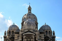 Domes  of the cathedral of Marseilles Stock Images