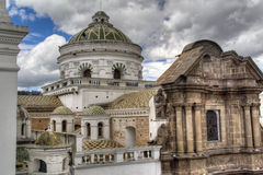 Domes of a cathedral in Quito Stock Photography
