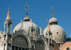 Domes of the cathedral of San Marco Royalty Free Stock Photography