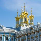 Catherine palace. Domes on Catherine palace Royalty Free Stock Photography