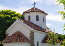 Domes of the chapel in the ancient town of Sozopol in Bulgaria Stock Images