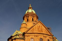 Domes of Christ Church in Mannheim, Germany. Christ Church in Mannheim, Germany Royalty Free Stock Photo