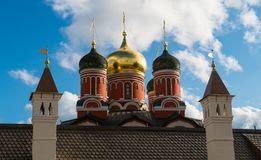 Domes of the Christian church. In the center of Moscow Stock Photo