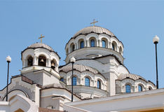 Domes of Christian temple. Domes of Cathedral of Holy Face of Christ the Saviour in the city of Sochi Royalty Free Stock Photography