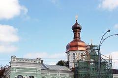 Domes of the Church. Church. Church. Domes of the Church royalty free stock image
