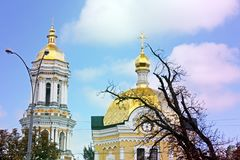 Domes of the Church. Church. Church. Domes of the Church royalty free stock images