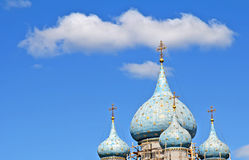 Domes of a church Stock Photography