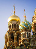 Domes of The Church. Domes of The Church of the Savior on Blood, Russia Royalty Free Stock Image
