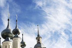 Domes of the Church. And blue sky Stock Photo