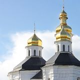 Church. Domes of the Church. royalty free stock photo