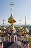 Domes Church  Flora and Lavra Royalty Free Stock Images