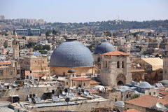 Domes of the Church of the Holy Sepulchre Stock Photos