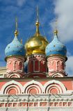 Domes of the Church in Kremlin. Moscow royalty free stock photo