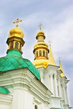 Domes of church of Nativity of the Holy Virgin Stock Photography
