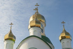 Domes of the church. Stock Image