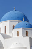 Domes of church on Santorini Stock Image