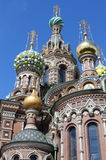 Domes of the Church of the Saviour on Spilled Blood stock photos