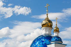 Domes of the church. On sky background Stock Photography