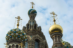 Domes of the Church of Split Blood, St. Petersburg Stock Photography