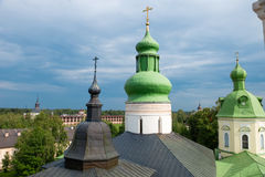 Domes of the church of St. Cyril Royalty Free Stock Image