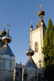 The Domes of the Church of Theodore Stratilat. Alushta. Stock Images