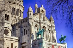 Basilica of the Sacre Coeur of Montmartre in Paris. Stock Image