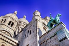 Basilica of the Sacre Coeur of Montmartre in Paris. Royalty Free Stock Image