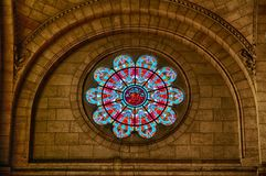 Details of the basilica of the Sacre Coeur of Montmartre in Paris. Stock Image