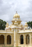 Domes at the corner of Eastern entrance,  Mysore palace Stock Photos