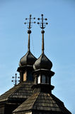 Domes with crosses on church_3 Stock Image
