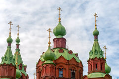 Domes and crosses of the Orthodox Church Stock Image