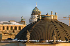 Domes of East Berlin. Domes In East Berlin Germany At Sunrise stock photo