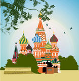 Domes of the famous Head of St. Basil's Cathedral Royalty Free Stock Images