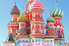 Domes of the famous Head of St. Basil's Cathedral Royalty Free Stock Photos