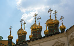 Domes of the Higher Cathedral of the Savior Royalty Free Stock Images