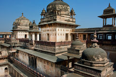 Domes of the historical citadel Jahangir in Orchha Royalty Free Stock Images